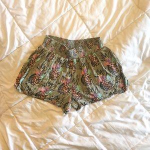 EUC Mossimo Rayon Pineapple Shorts